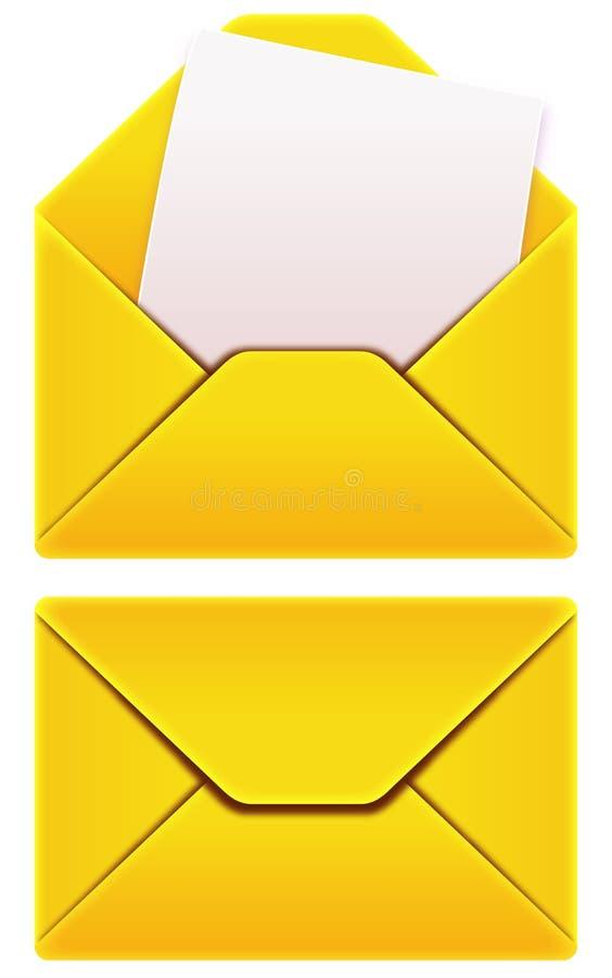 Envie por correio electrónico envelopes ilustração royalty free