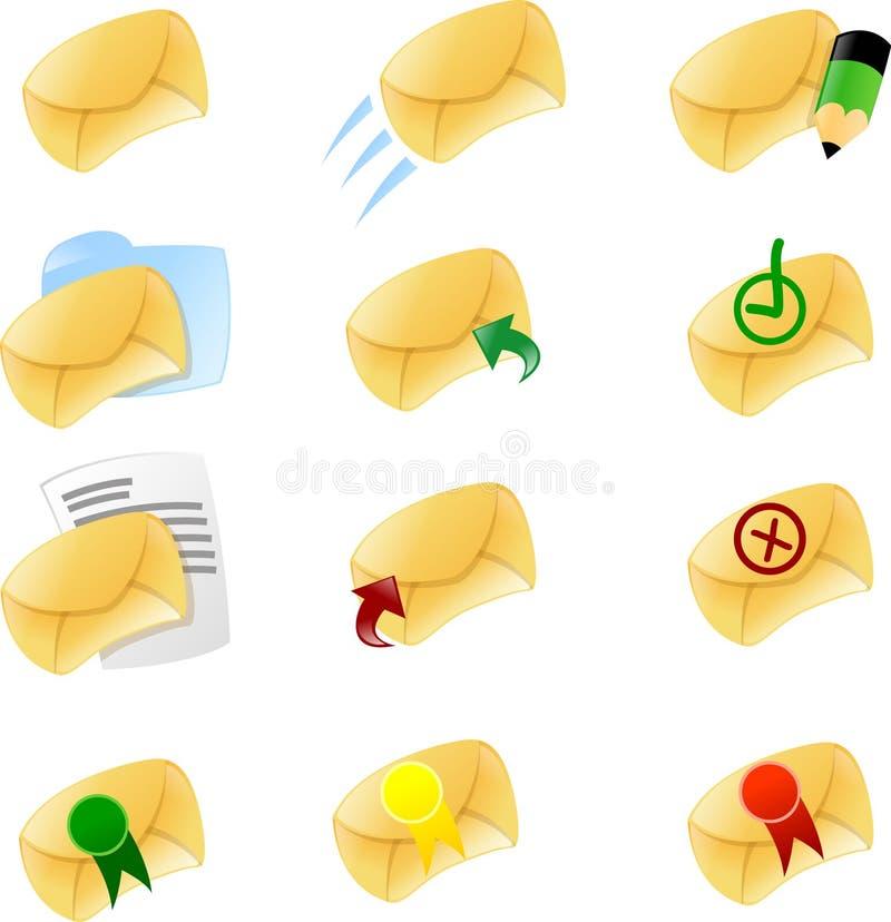 Envie por correio electrónico o ícone ajustam 1 ilustração do vetor