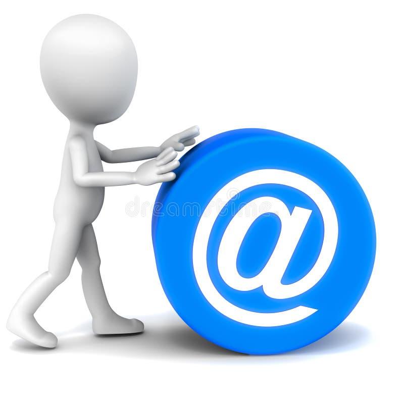 Envie por correio electrónico uma comunicação ilustração royalty free