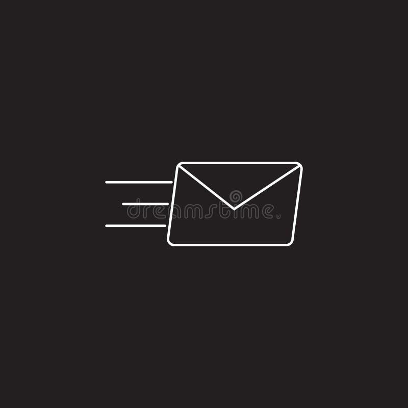 Envie por correio eletrónico a linha ícone, ilustração do vetor do esboço, pictograma linear ilustração do vetor