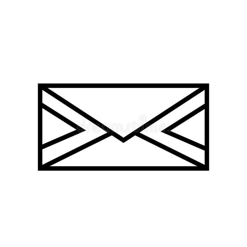 Envie por correio eletrónico o vetor do ícone isolado no fundo branco, sinal do email ilustração stock