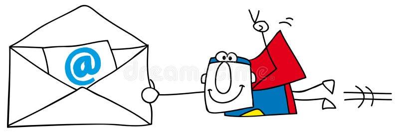 Envio por correio eletrónico ilustração royalty free
