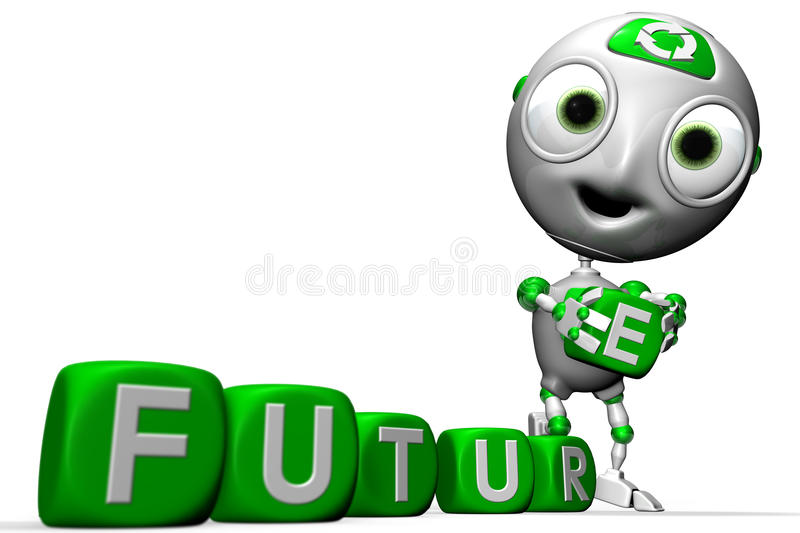 Envirobot and a Greener future stock illustration