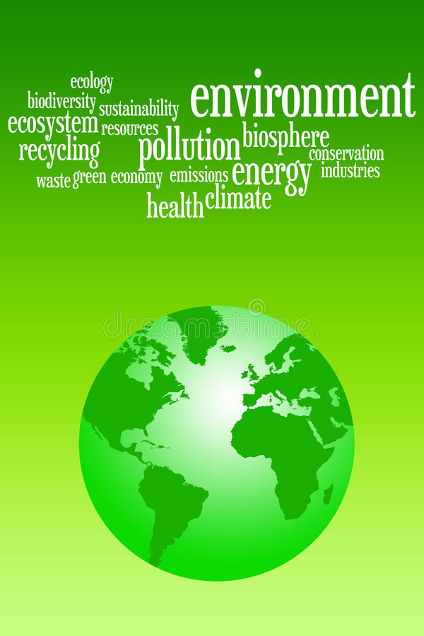 Environment. Caring about a green and clean environment royalty free illustration