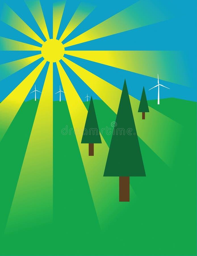 The Environment vector illustration