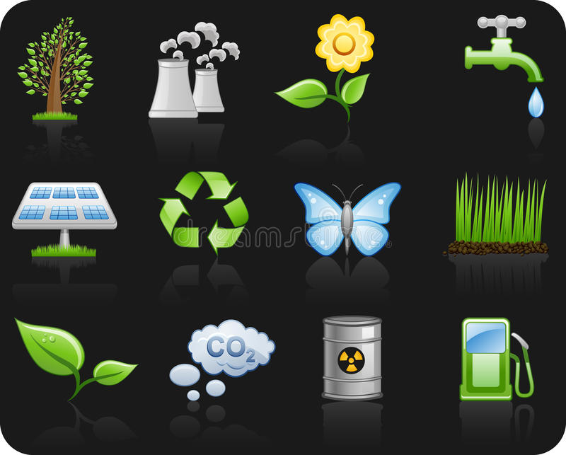 Download Environment_black Background Stock Vector - Illustration of power, panel: 12979083