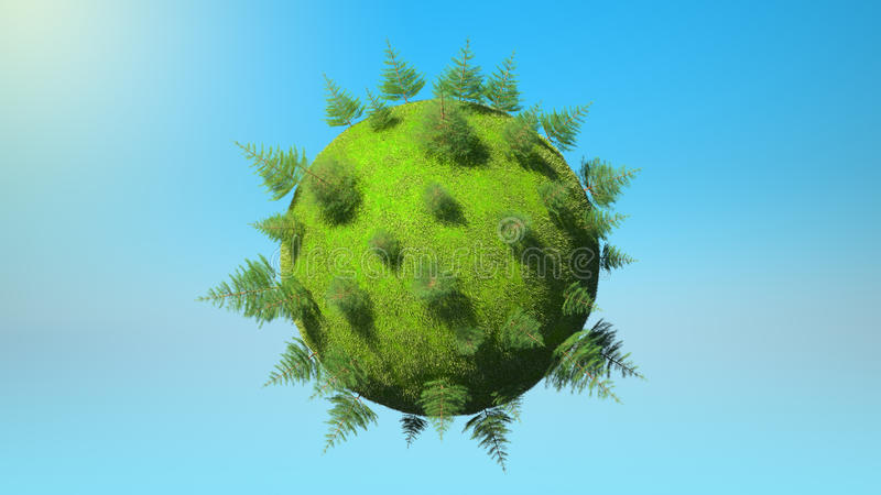 Download Environment Concept - Earth Planet And Firtrees Royalty Free Stock Image - Image: 16052856