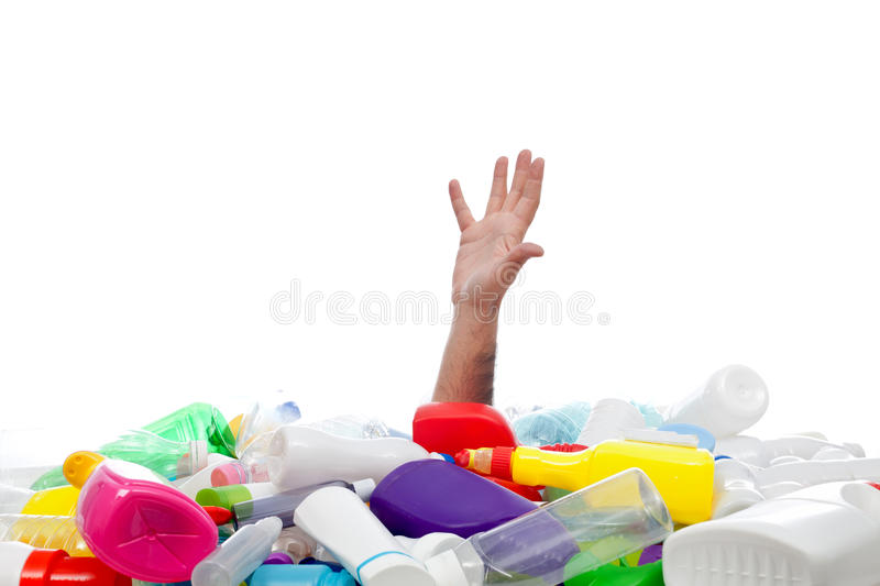 Download Environment Concept With Human Hand And Plastic Recipients Stock Image - Image: 28810837