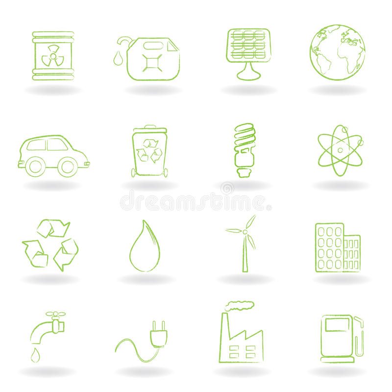 Environment And Ecology Icons Royalty Free Stock Image