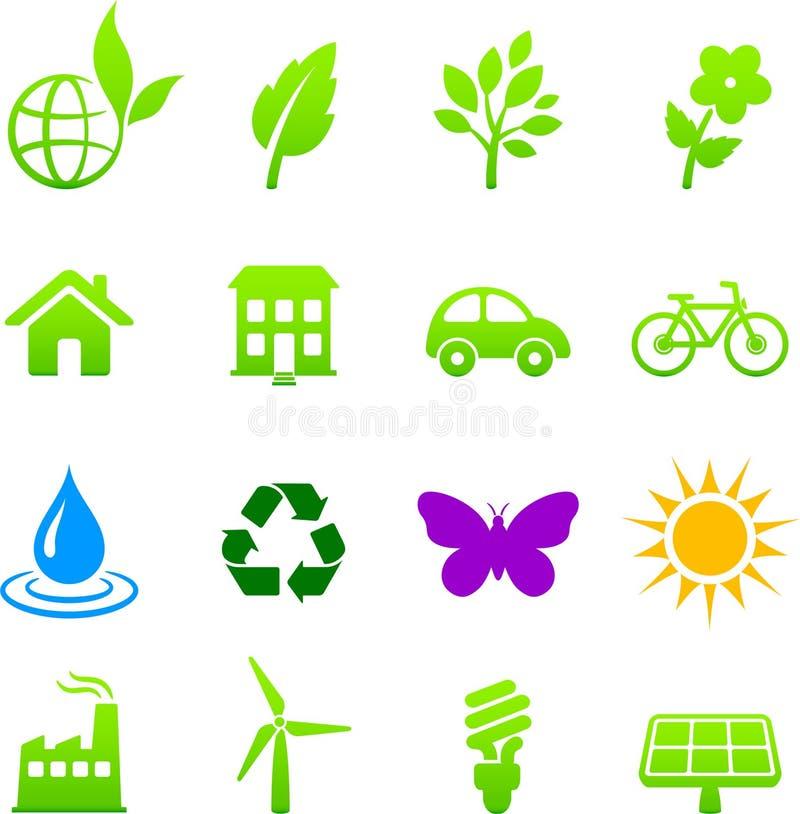 Environment elements icon set vector illustration