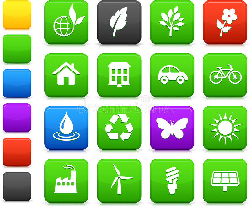 Download Environment Elements Icon Set Stock Illustration - Image: 12393285