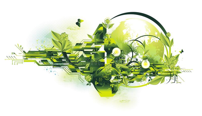 Environment and energy concept vector illustration