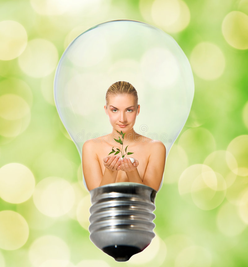 Download Environment friendly bulb stock image. Image of conservation - 7473427