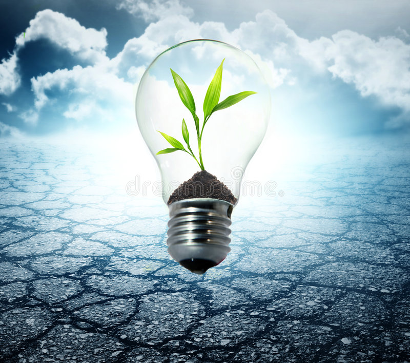 Environment friendly bulb royalty free stock image