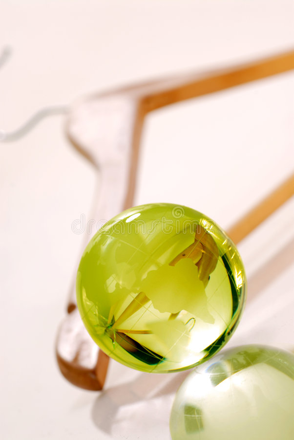 Environment friendly dry cleaned royalty free stock images