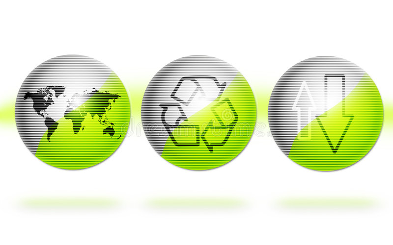 Environment globes stock images
