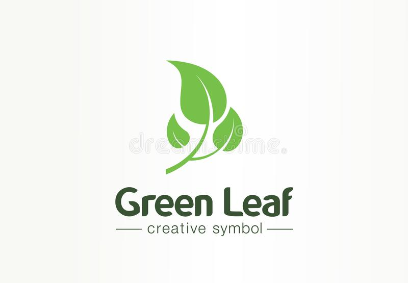 Environment, green leaf, organic creative symbol concept. Natural bio cosmetics, nature abstract business logo idea. Growth plant eco icon. Corporate identity vector illustration