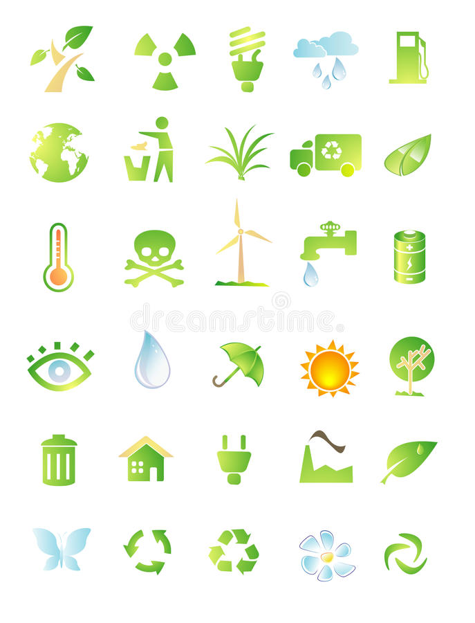 Download Environment icon set stock vector. Image of natural, abstract - 11372001