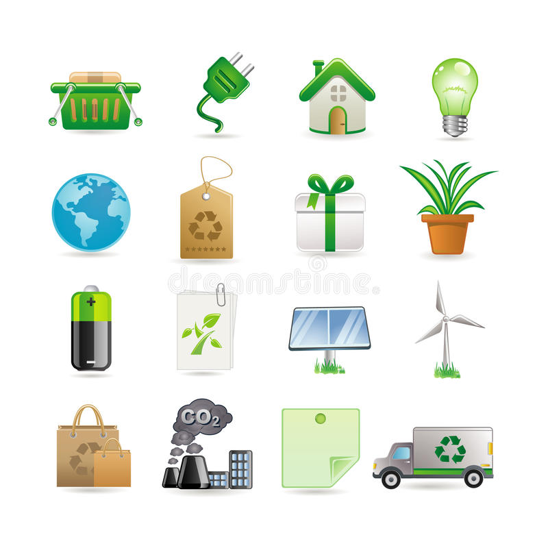 Download Environment icon set stock vector. Illustration of lamp - 13536813