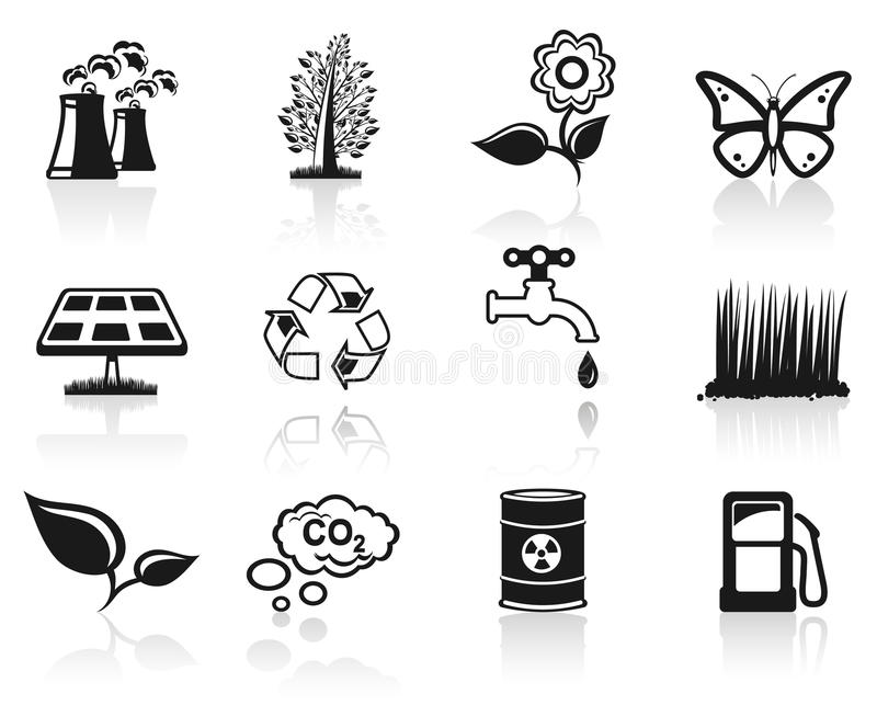 Environment Icon Set. Stock Photography