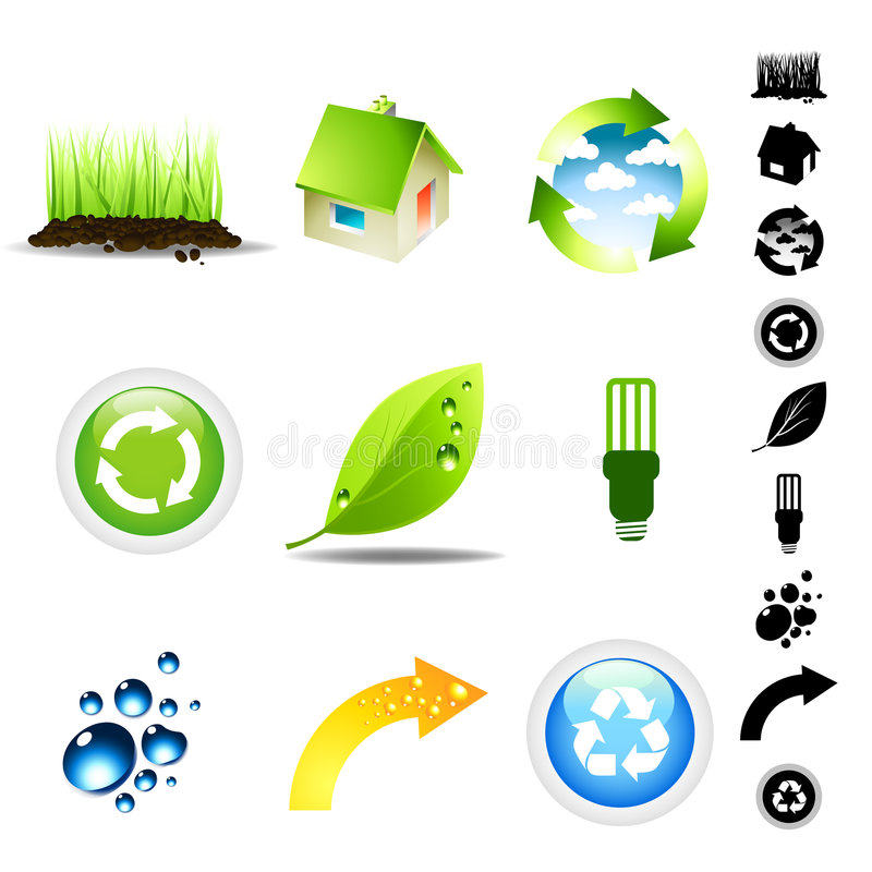 Environment Icon Set royalty free illustration