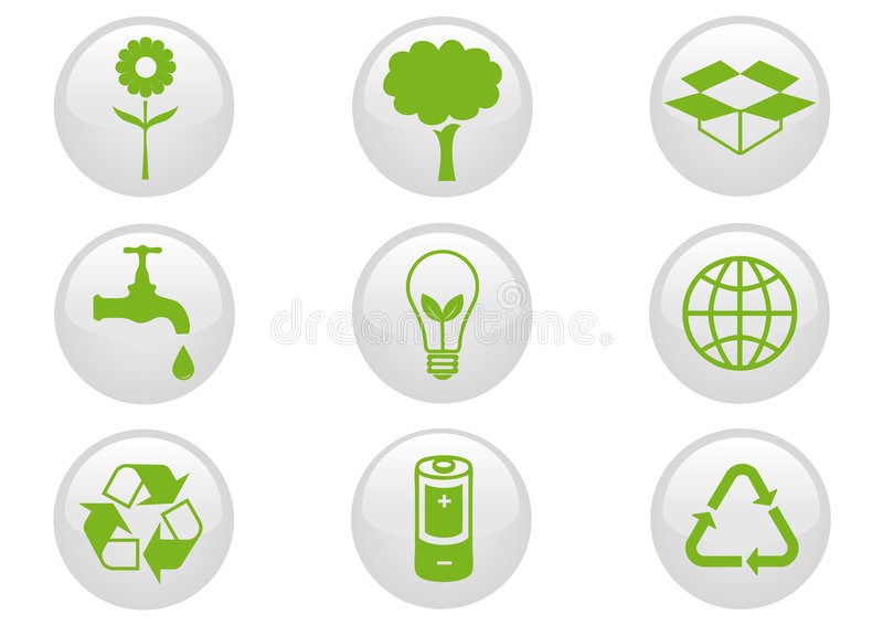 Download Environment Icon Set. stock vector. Image of responsibility - 8553163