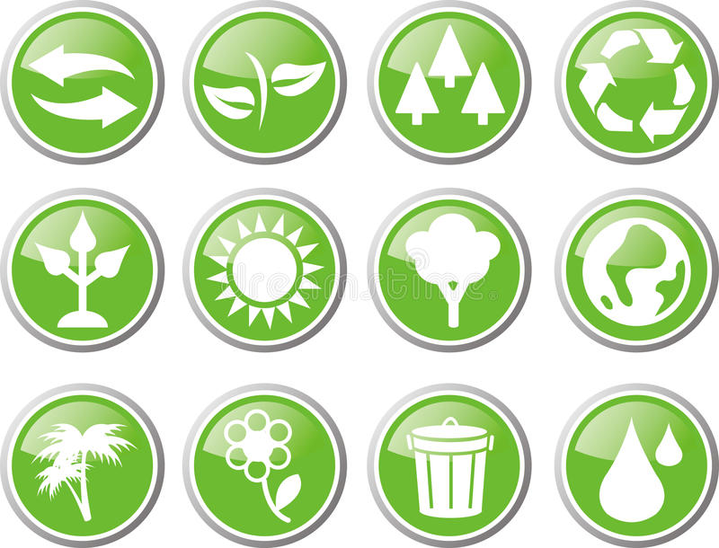 Download Environment Icon Set Stock Image - Image: 33538891