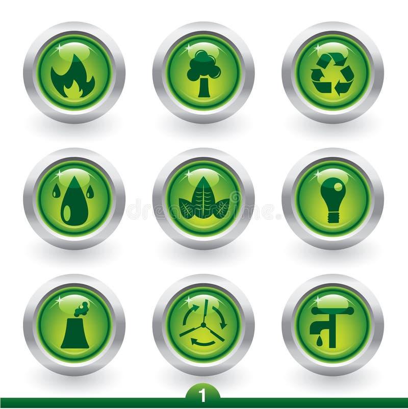Environment icons stock illustration