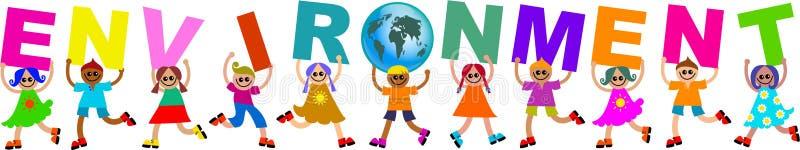 Environment kids vector illustration
