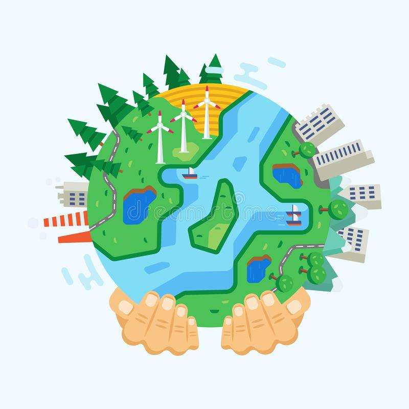 Free Environment Protection. Clean City, Landscapes, Preservation Ecology, Eco-protection Earth. Royalty Free Stock Photography - 114125747