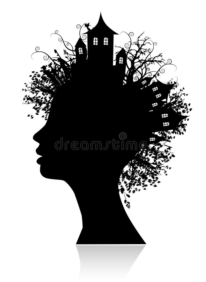 Environment, Thinking Silhouette Royalty Free Stock Photography