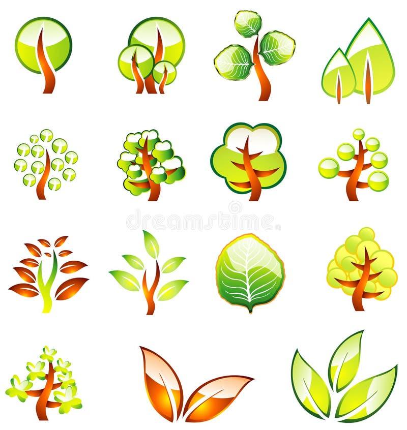 Environment Trees Glossy Icons stock photos