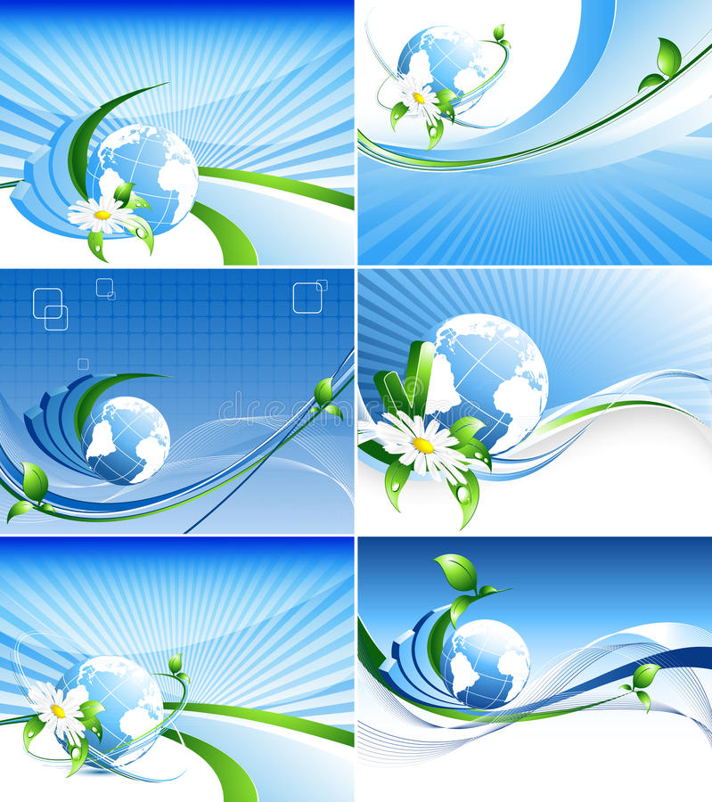 Download Environmental Abstract Backdrops  Set Stock Vector - Illustration: 21234296