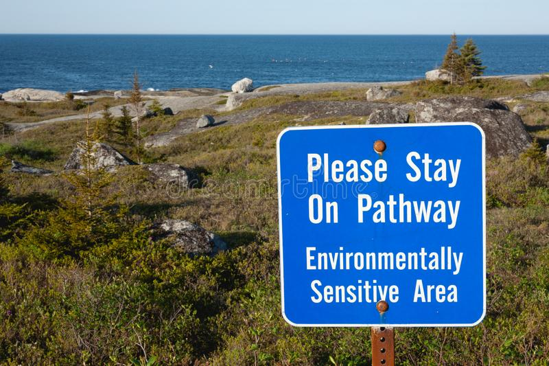 Environmental Area Sign. Sign advising of environmentally sensitive area royalty free stock images