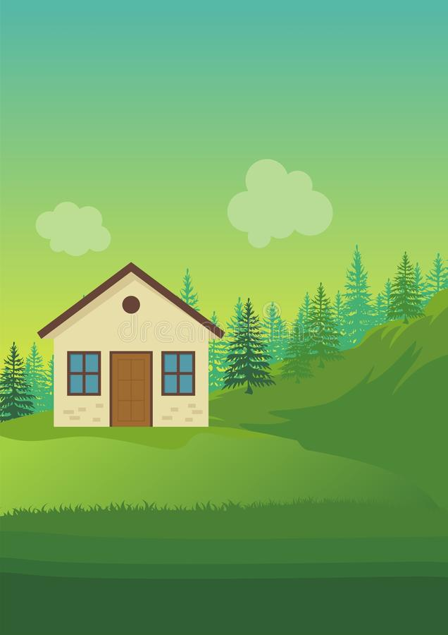 Environmental Background with Cartoon theme royalty free stock images