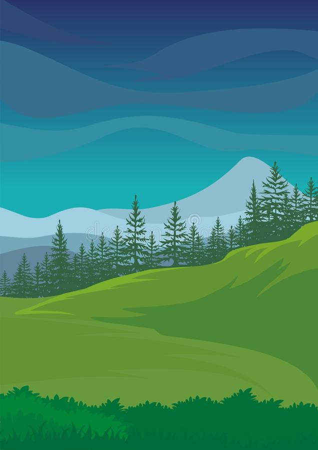 Environmental Background with Cartoon theme royalty free stock photography