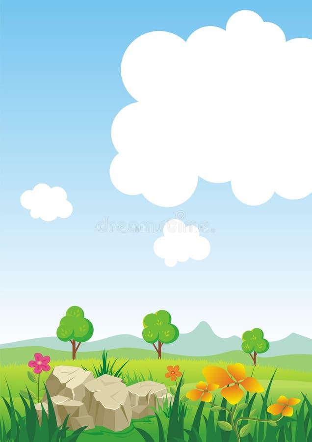 Environmental Background with Cartoon theme stock photo