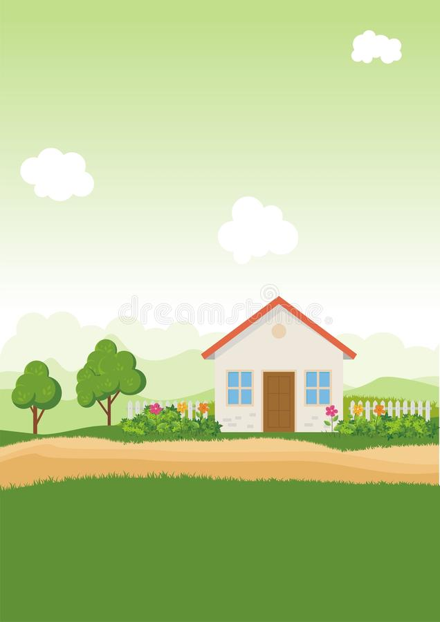 Environmental Background with Cartoon theme stock images