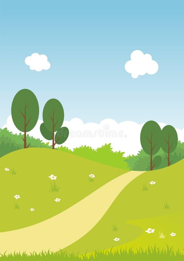 Environmental Background with Cartoon theme royalty free stock photo