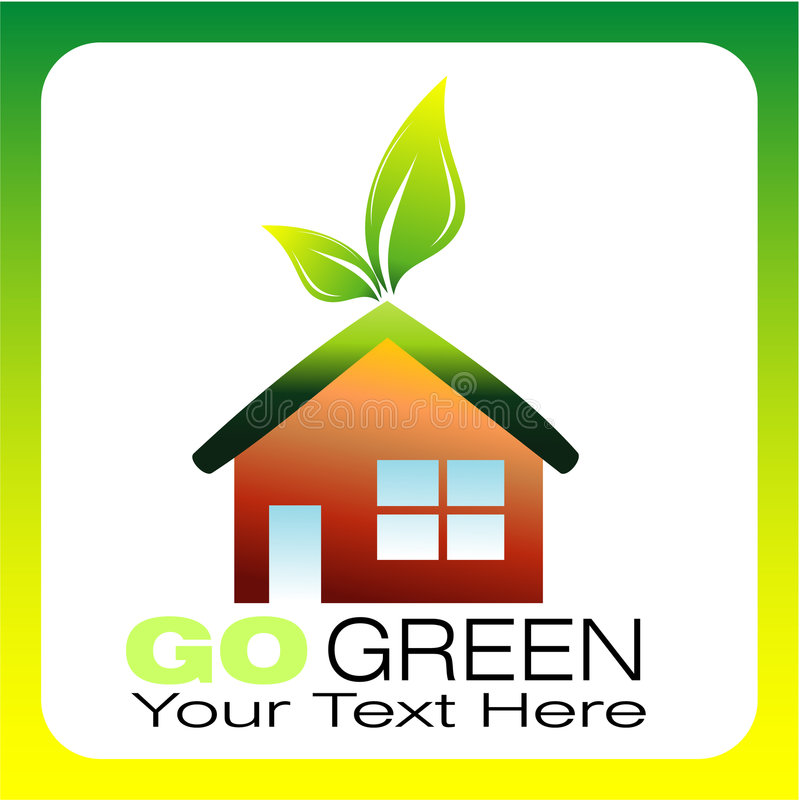 Environmental Business Card stock photo