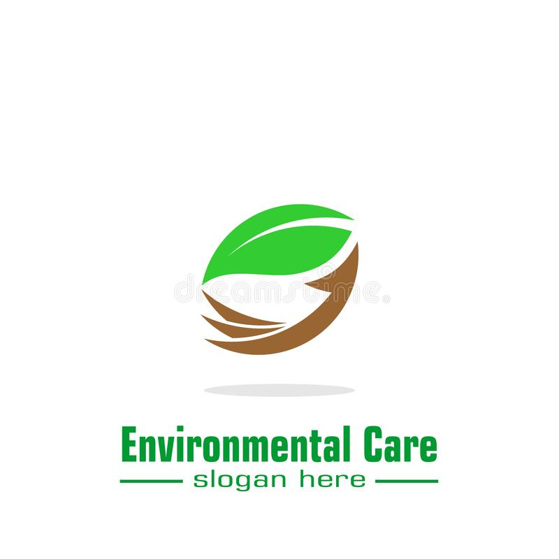Environmental care logo stock illustration