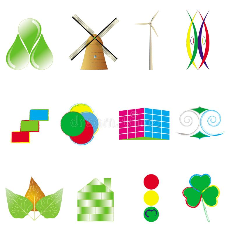 Environmental conceptual logos royalty free stock photos