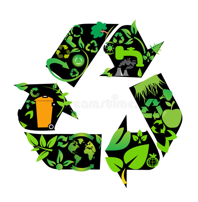 Download Environmental Conservation Symbols Stock Vector - Illustration: 8921105