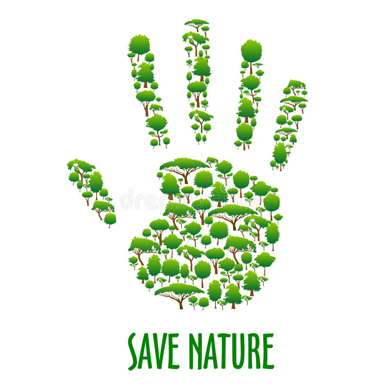 Environmental Ecology Protection Poster Stock Vector Illustration