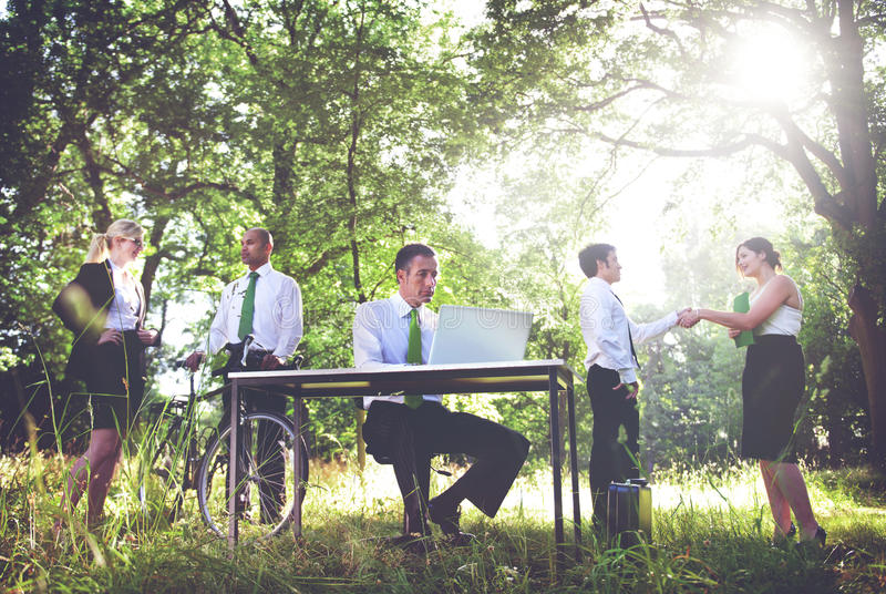 Environmental Friendly Business People Working Concept royalty free stock photo