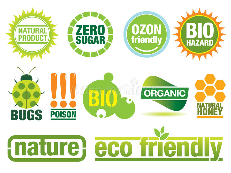 Environmental friendly design elements vector illustration