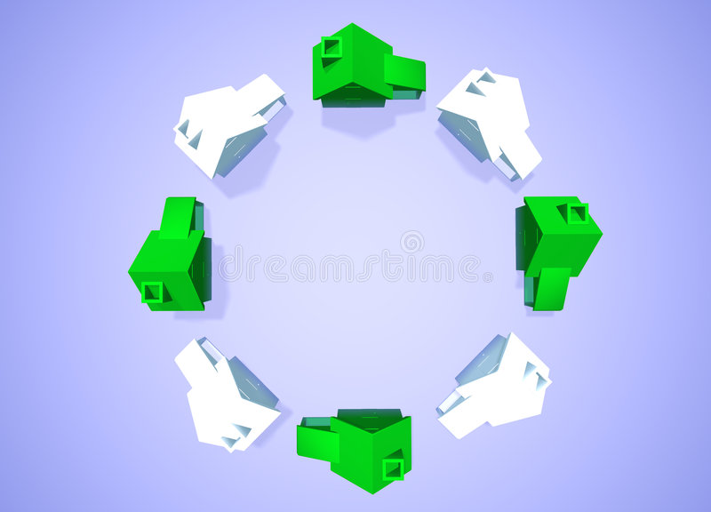Download Environmental Friendly Houses Neighbourhood Group Stock Illustration - Image: 6548413