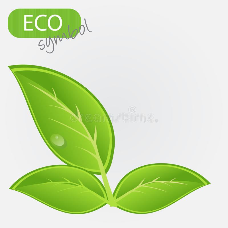 Environmental icon with plant.