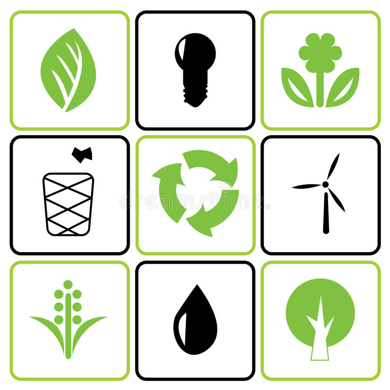 Download Environmental icon set stock vector. Image of light, button - 15114509