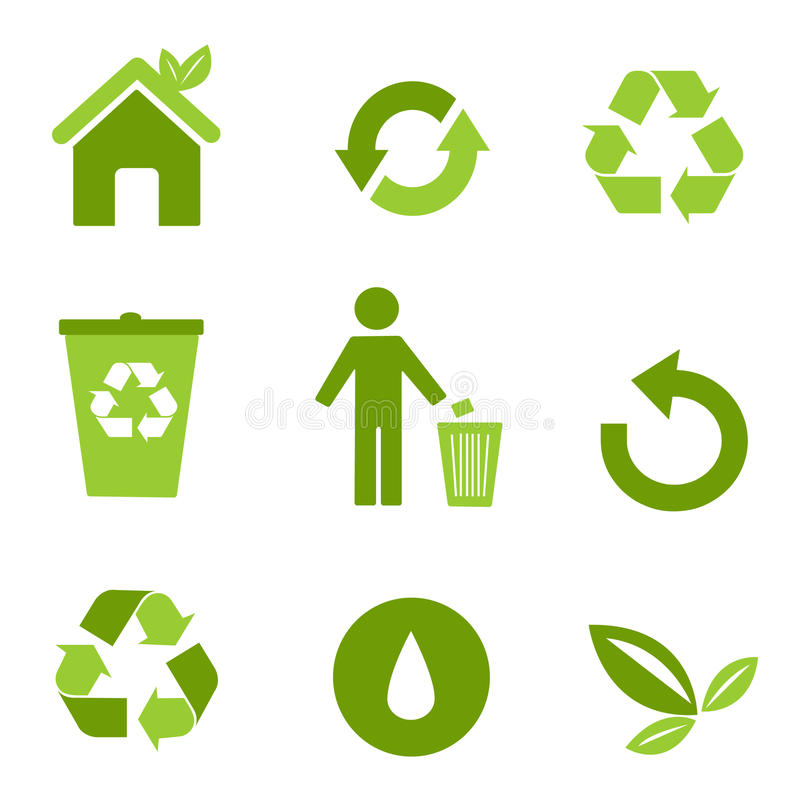 Environmental icons stock illustration